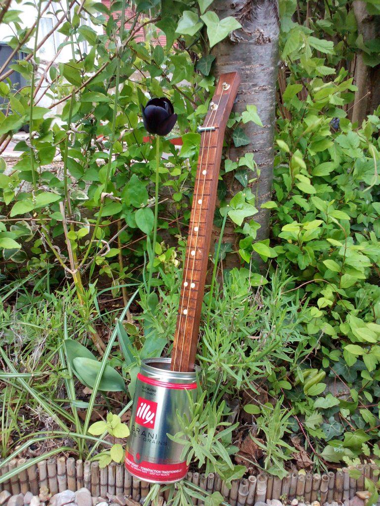 2-string fretless slide canjo