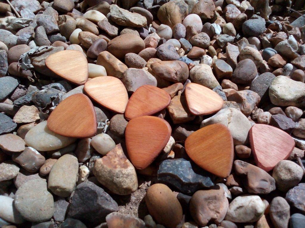 Wooden plectrums... made from wood